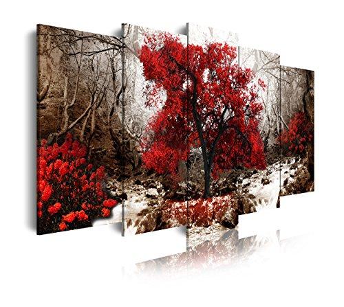 DekoArte 258 - Cuadro moderno lienzo 5 piezas paisaje