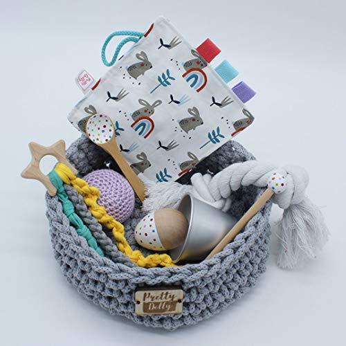 Cesta de los tesoros para bebé - Juego de primera etapa - Pretty Dolly