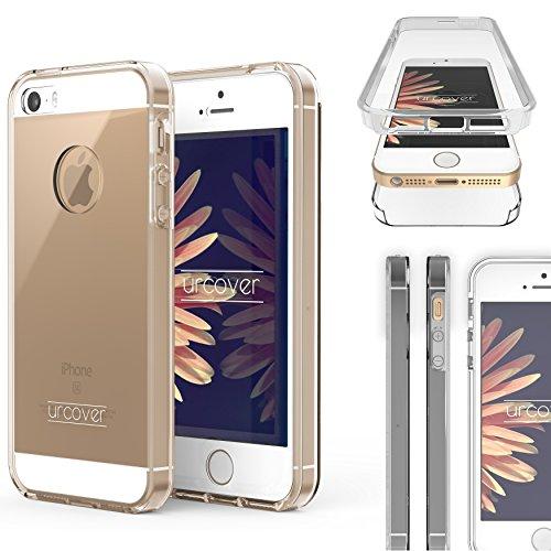 Urcover Custodia iPhone 5/5s/SE, Nuova Touch Case 2017 Protezione 360 Fronte Retro Trasparente Cover Full Body Sottile Apple iPhone 5/5s/SE - Trasparente