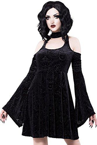 Killstar Minikleid Black Vela Burnout Velvet