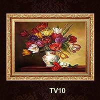 装飾的な絵画を描くTV10コンチネンタルメーターボックス装飾画スライディング油圧分配ボックスの装飾は、断面を額装 YANG1MN (Size : 60*40)