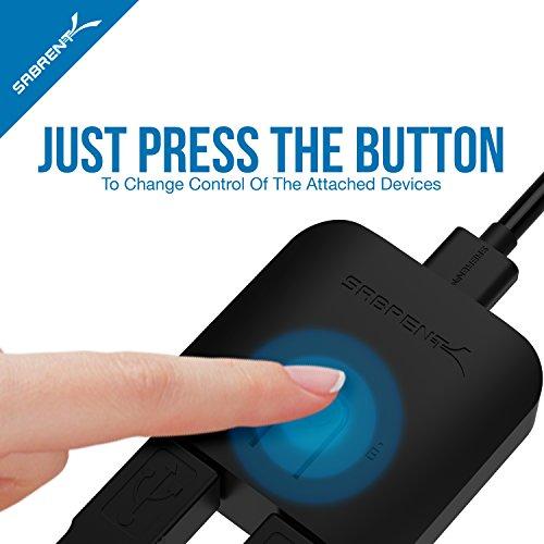 Sabrent Netzwerk-Hubs & Switches - USB 3.0 Switch für mehrere Computer und Peripheriegeräte mit LED-Geräteanzeigen (USB-SW30)