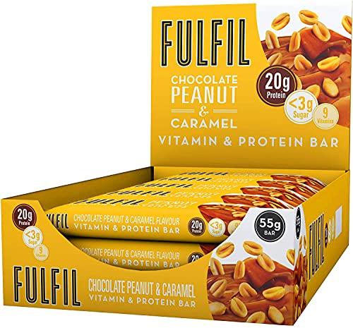 FULFIL Vitamin and Protein Bar (15 x 55g Bars) — Chocolate Peanut &...
