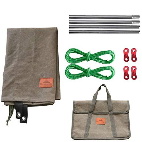 Betteros Lona de camping, lona de algodón, resistente al viento, cortina resistente al desgaste, para estufa de camping