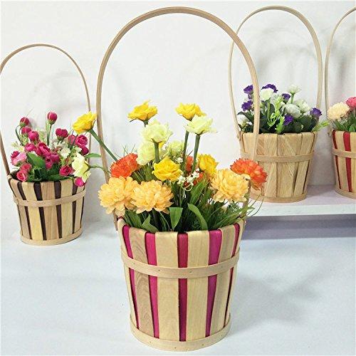 XBR prendre _ Main Insérée Panier de fleurs Props Portable Panier réutilisable Tissage Panier cadeau frais photos Props