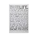 Holstee Manifesto Poster The Original This is Your Life Poster Canvas Art Poster and Wall Art Picture Print Modern Family Bedroom Decor Posters 24x36inch(60x90cm)
