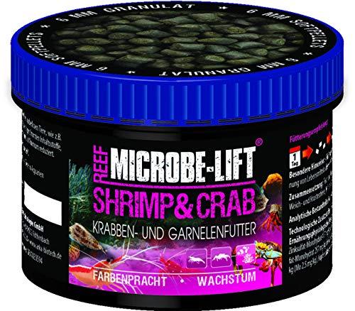 MICROBE-LIFT Shrimp & Crab - Granulatfutter, Garnelen- & Krabbenfutter für jedes Meerwasseraquarium, 150ml / 50g
