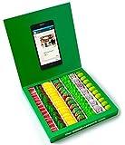 Caja golosinas Whatsapp 23x23cm con mensaje personalizado, su interior contiene 750g de golosinas Fruit