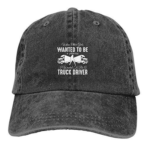 IIFENGLE Gorra de béisbol Retro para Adultos Sombrero de Vaquero Deportivo Sombrero Unisex para Exteriores Sombrero de Camionero Negro Girls Wanted to Truck Driver