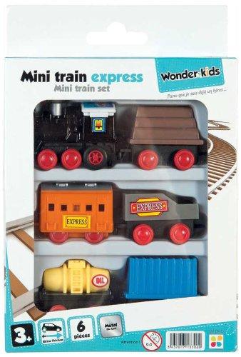 WDK PARTNER - A1300047 - Véhicules miniatures - Train de 6 wagons métal - Modèle aléatoire