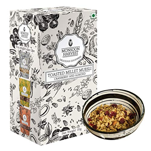 Monsoon Harvest Toasted Millet Muesli, Cranberry & Almond, 1 Kg