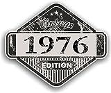 Distressed Envejecido Vintage 1976Edition Classic Retro Vinilo Coche Moto Cafe Racer Casco...