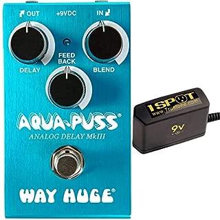 Way Huge Electronics WM71 Aqua-Puss Mini Analog Delay Bundle w/Truetone 1 Spot Space Saving 9v Adapter