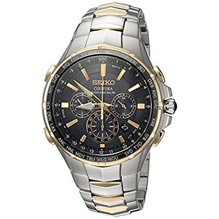 Fashion Shopping Seiko Men's SSG010 COUTURA Analog Display Japanese Quartz Two Tone Watch
