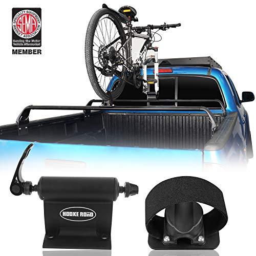 Hooke Road Universal Bike Car Carrier Quick-Release Alloy Fork Lock Alloy Bed | Roof Mount Rack for 1 Bike - Cross Bars not Included