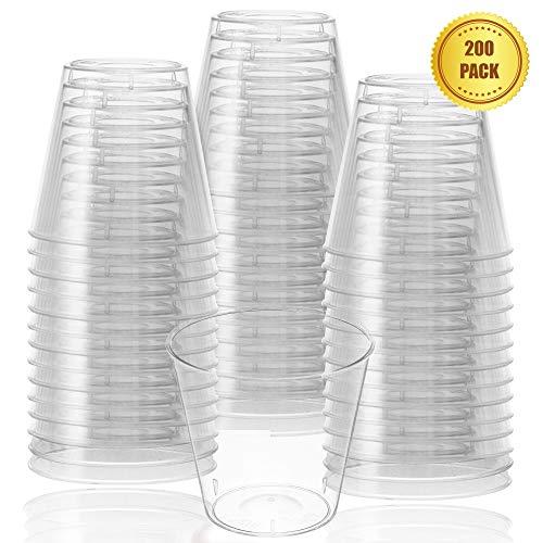 Vasos de chupito desechables de plástico transparente para uso reutilizable o desechable, para fiestas y barbacoas, 30 ml (paquete de 200)