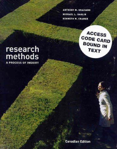 Research Methods: A Process of Inquiry, Canadian Edition