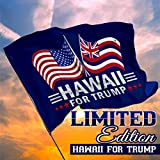 Republican Dogs Hawaii for Trump Limited Edition Dual Flags 3 x 5 Feet with Grommets