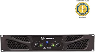 Crown XLi1500 2-channel, 450W at 4Ω Power Amplifier with Free 1 Year EverythingMusic Extended Warranty