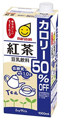マルサン 豆乳飲料 紅茶 カロリー50%オフ 1L×6本 紙パック