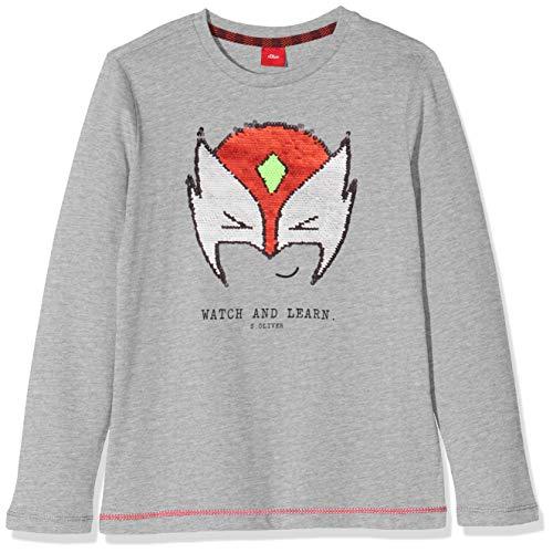 s.Oliver Jungen 63.909.31.8856 T-Shirt, Grau (Grey Melange 9400), 104/110 (Herstellergröße: 104/110/REG)