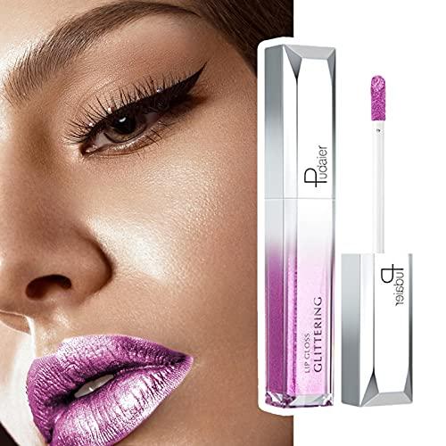 18 colores Star Glitter Lip Gloss Liquid Lipstick Gloss Shiny Long Durable Lipstick para maquillaje Set de brillo de labios de terciopelo impermeable, Set de labios de color líquido para niñas y damas