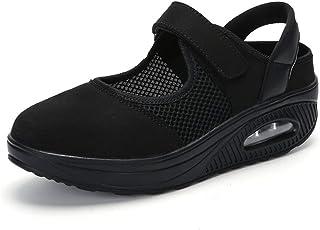 Sandalias para Mujer Malla Merceditas Plataforma Ligero Zapatillas Sneaker Mary Jane Casual Zapatos de Deporte Mocasines N...