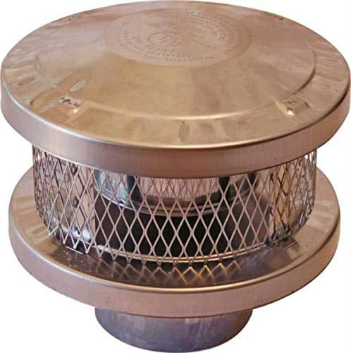 New American Metal Ameri-TEC 6HS-RCS 6 INCH Chimney Stove Round Vent Cap 6846018