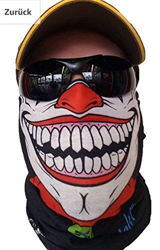 Salt Armour Original SVoKI Clown Halstuch Maske Schal Schlauchtuch Kälteschutz Gesichtsmaske Halloween Motorrad Ski Snowboard Jagen Angeln Motorrad Fahrrad Paintball