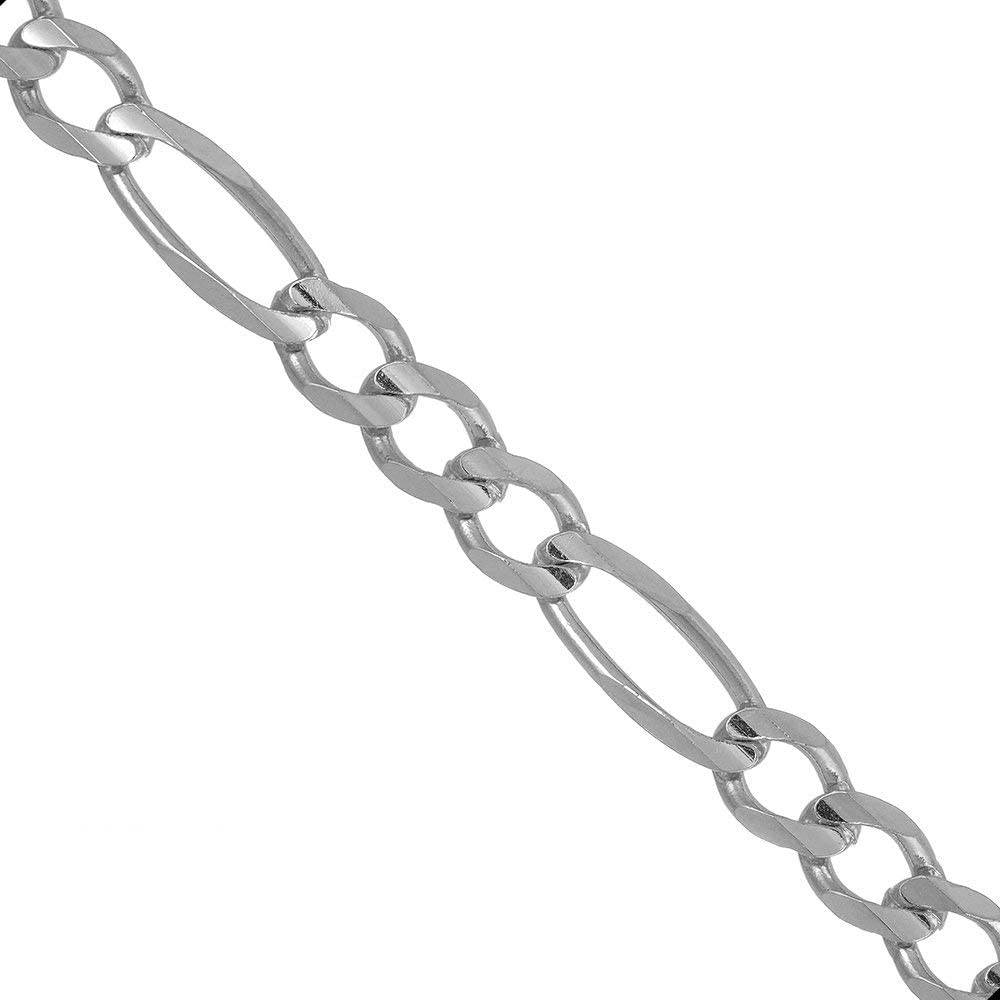 JewelStop 925 Sterling Silver Rhodium Year-end gift Plated 3.0 Chain Figaro mm Max 68% OFF