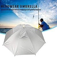 ハイキング傘帽子傘釣り傘傘帽子頭傘、魚のための屋外用防錆傘帽子