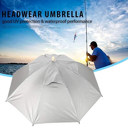 03 Kopf Regenschirm, Unbrella Hut Regenschirm Hüte Regenschirm Hut Haltbar für Fisch Nubrella Regenschirm für Outdoor Wearable Umbrella