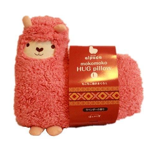 ZD71 Allegra zia Mokomoko, a forma di lama, alpaca, bambola cuscino dell'abbraccio , Cotone, rosa, 47cm * 47 cm
