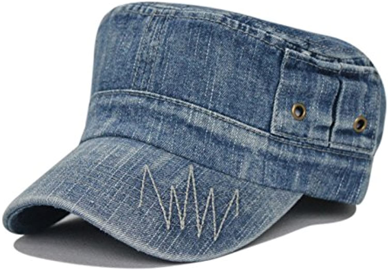 c01ac45968cbc4 Liufeilong Hats, Washed Denim caps Outdoor caps Men and Women caps Sports  Leisure Cap Tide Flat nwyhgb5923-Sporting goods