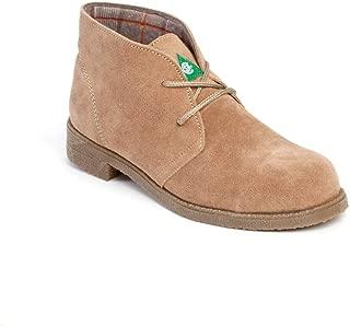 Featherlike, Dessy Beige Boot, Women's Steel Toe, Green Patch, Comfort, Lightweight, CSA, ASTM Certified, Made in Canada
