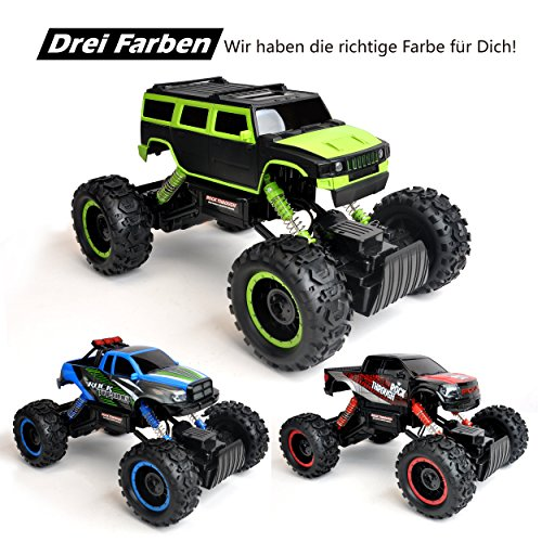 RC Monstertruck kaufen Monstertruck Bild 1: Maximum RC Ferngesteuertes Auto für Kinder - 4WD Monstertruck - XL RC Auto für Kinder ab 8 Jahren - Rock Crawler (grün)*