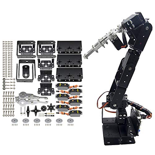professional diymore Black ROT3U 6DOF Mechanical Robot Clamp for Clamping with Aluminum Robot Arm MG996…
