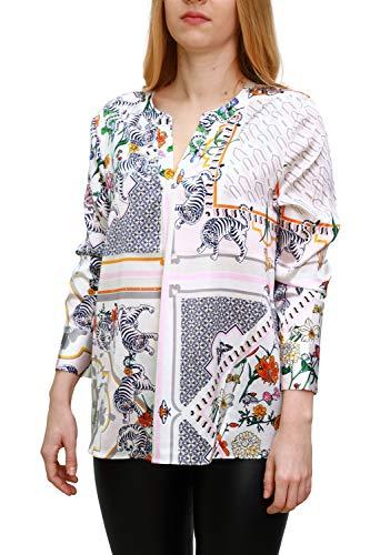 Herzensangelegenheit Blusenshirt aus Seide mit Ornament Druck, Farbe:Mehrfarbig, Größe:42