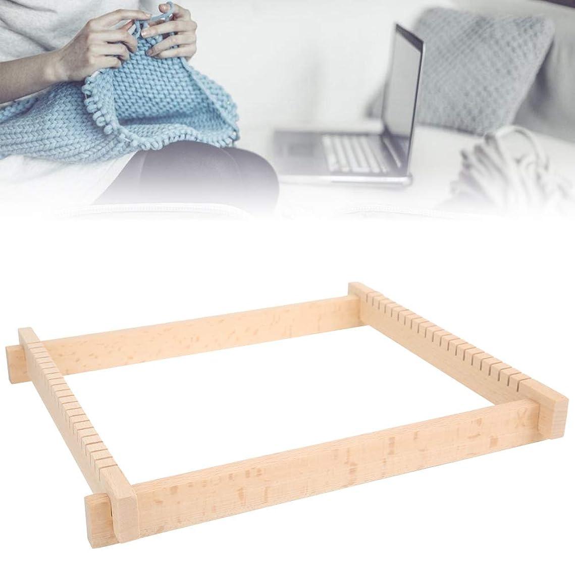 エンディング酔っ払いラベ織機、スカーフ木製編み機、DIY使いやすい編み物用品、子供用教育玩具初心者