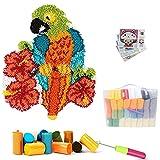 ZYUN Kit de 52 x 38 cm, kit de lana de ganchillo, kit de ganchillo, kit de gancho de costura sin terminar, alfombra de ganchillo para niños, adultos
