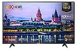 TCL Televisor LED 50P610 de 50 pulgadas Smart TV (4K UHD, HDR 10, Netflix, YouTube, Micro Dimming, Dolby Audio, T-cast, diseño delgado), color negro