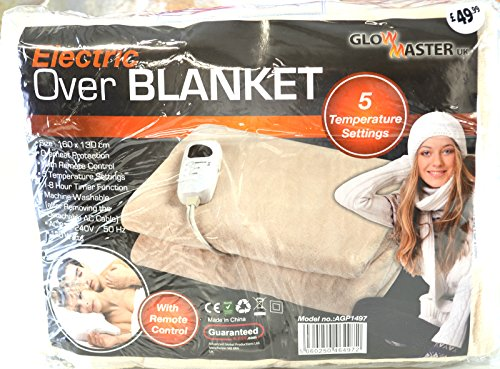 Electric Heated Throw Over Blanket Soft Fleece Washable Polyester Warm Mattress