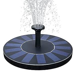 TOMONOLO Solar Bird Bath Fountain with Battery Backup, 2.5W Free Standing Solar Water Pump Kit for Birdbath, Pond, Pool, Garden