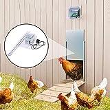 Kit de porte automatique pour poulailler , S'ouvre et se Ferme Automatiquement Ouvre-porte avec minuterie et capteur de lumière- Résiste aux prédateurs, TZUTOGETHER