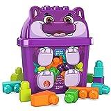 Mega Bloks Cubo Hipopótamo 25 bloques de construcción, juguete para niños +1 año (Mattel GRV21)