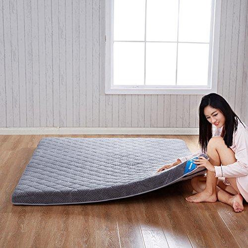 hxxxy Bed Easy Matelas,Extra épais Tatami Mat DOutoirs Matelas Double Ou Individuels-Gris 90x200cm(35x79inch)
