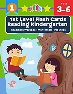 1st Level Flash Cards Reading Kindergarten Readiness Workbook Montessori First Steps: 100+ I can read books my first readi...
