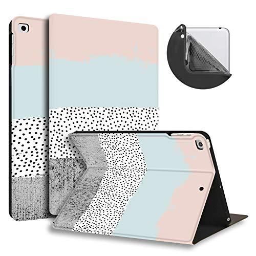 HUASIRU Pintura Caso Funda para iPad Air/Air 2 (9.7 Pulgadas) y iPad 2017/2018 - La Cubierta de Soporte Ajustable con Auto-Reposo/Activación, Colores