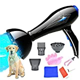 Pets Empire Professional Stepless Speed Blaster Grooming Hair Dryer/Blower with Blue Light, Pet