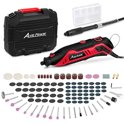 Rotary Tool Kit Variable Speed with Flex Shaft, 101pcs Accessories and Carrying Case for Grinding, Cutting, Wood Carving, Sanding, and Engraving